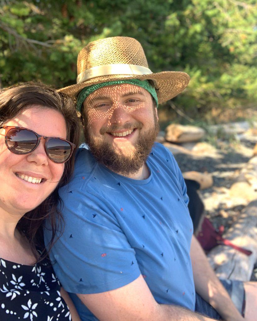Helen and Sam on Hornby Island