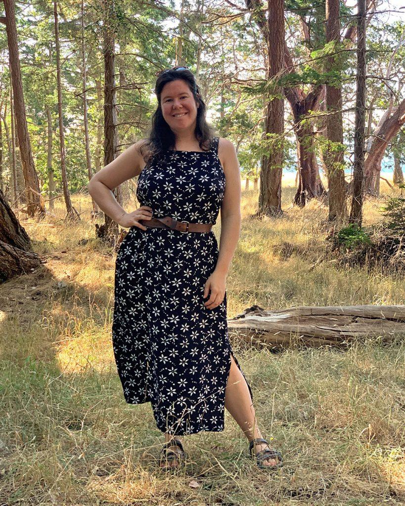 Rayon Batik Reynolds Dress from Helen's Closet Patterns