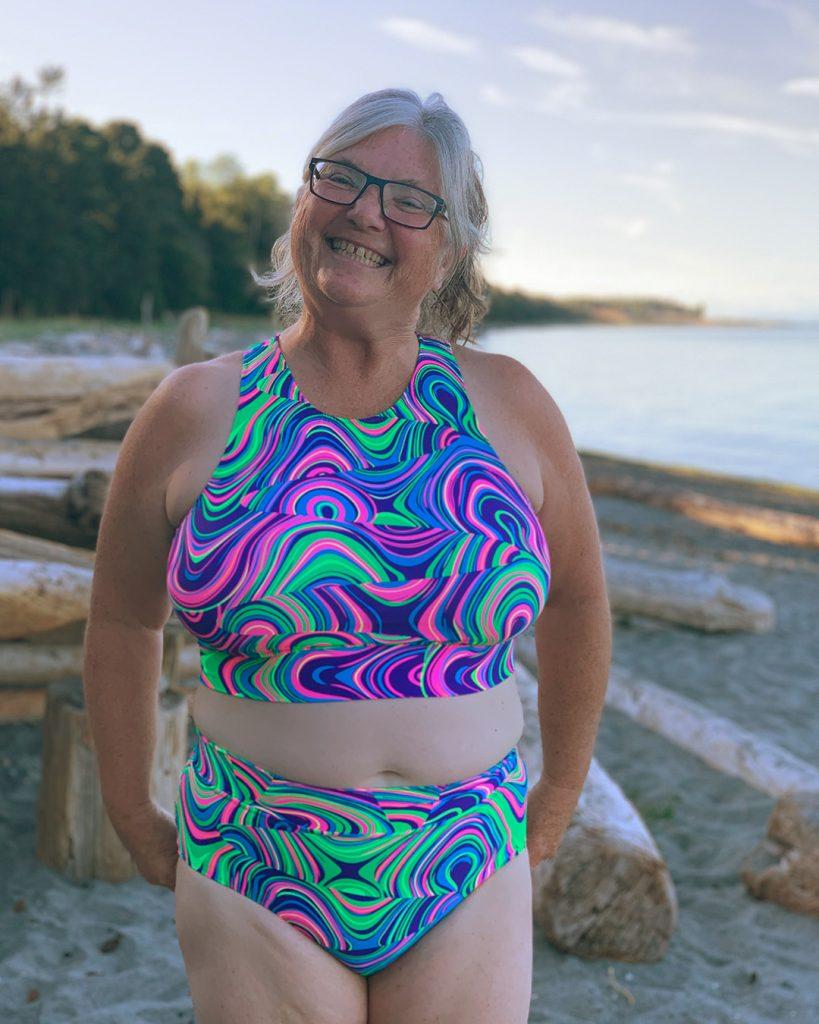 Laurie's beginner Sandpiper swimsuit!
