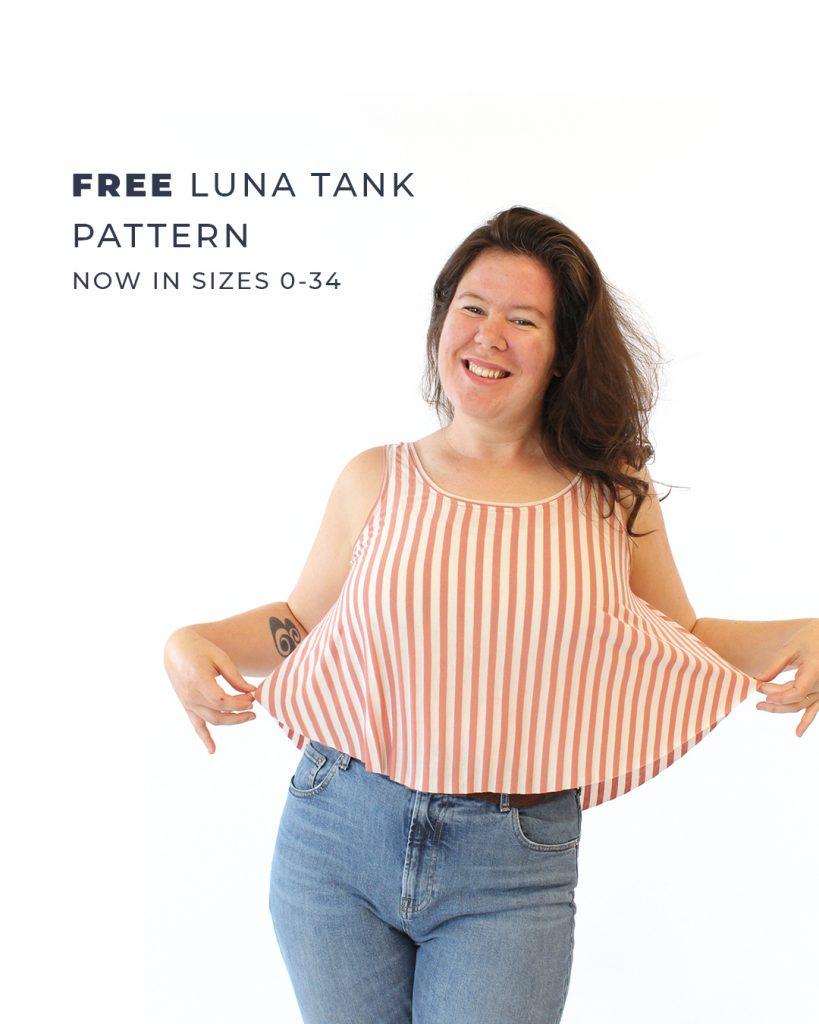 Free Luna Tank Pattern, Now in Sizes 0-34