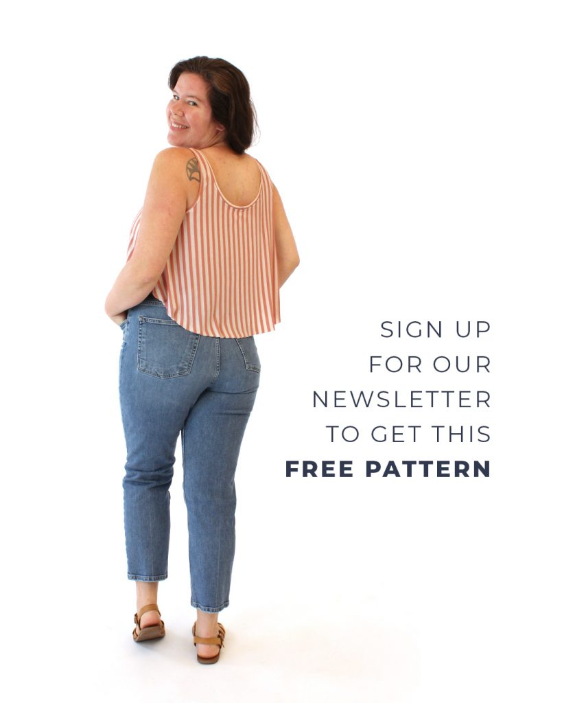 Sign up for our newsletter to get the free Luna Tank Pattern!