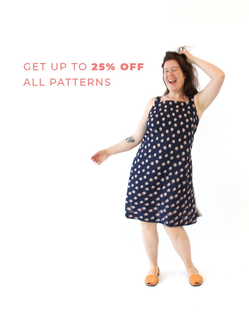 Get up to 25% off all patterns during the Helen's Closet Anniversary Sale!