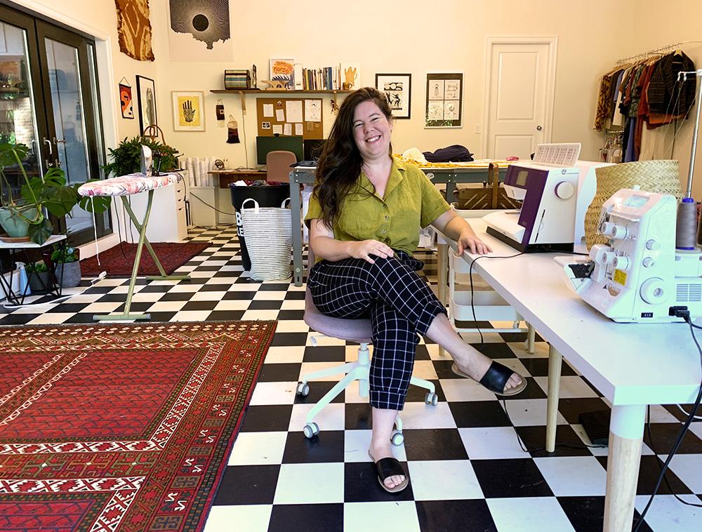 Helen in her current home studio.