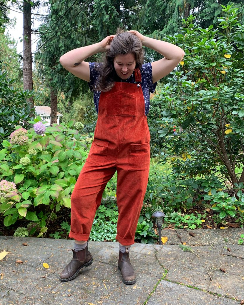 Red Corduroy Yanta Overalls from Helen's Closet